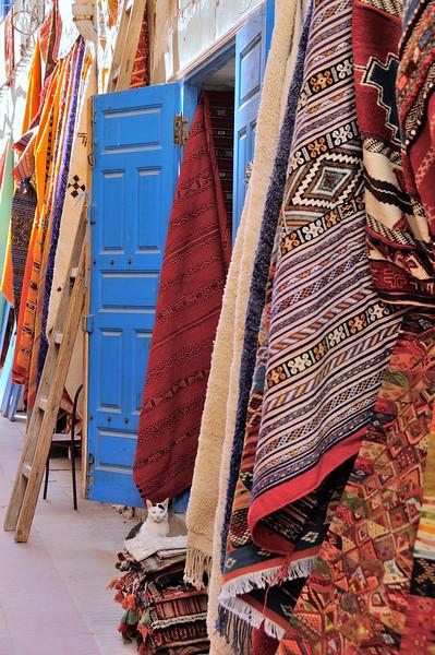 Rugs for sale in Essaouria, Morocco