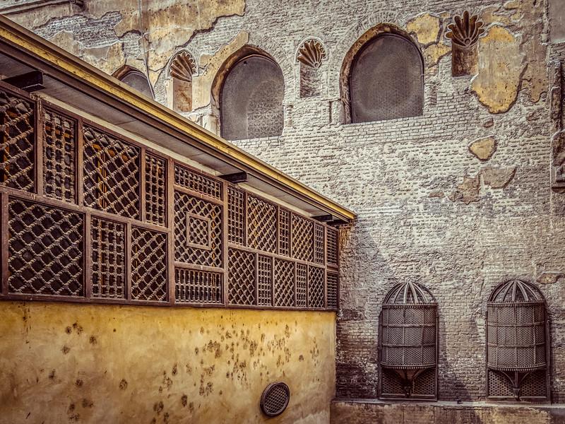 Courtyard with mashrabiya
