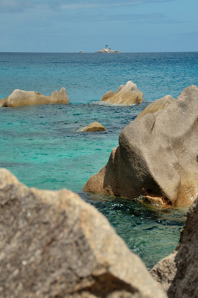 Clear seas of La Digue