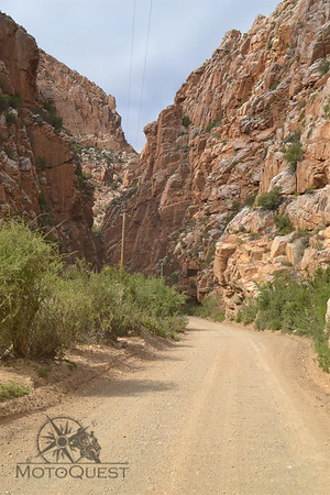 Ride through stunning desert gorges.