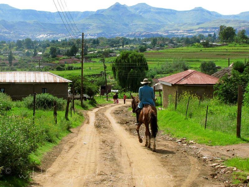 Man going into town - Lesotho
