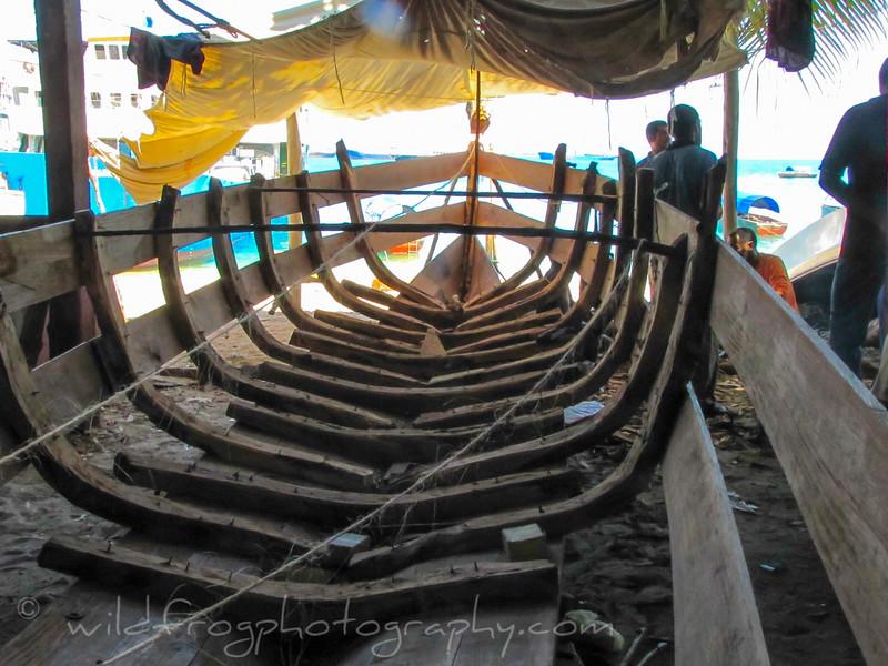 Boat building Zanzibar