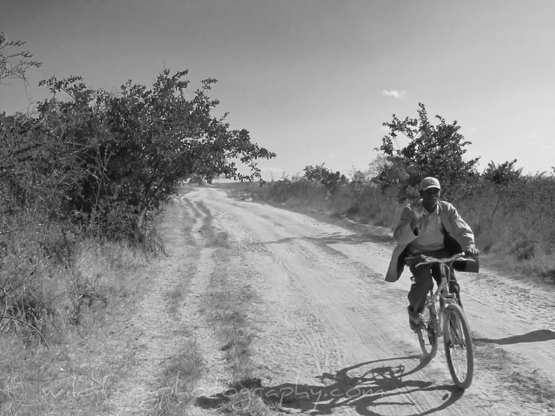 Man on bike Tanzania