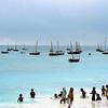 Kids swimming Zanzibar