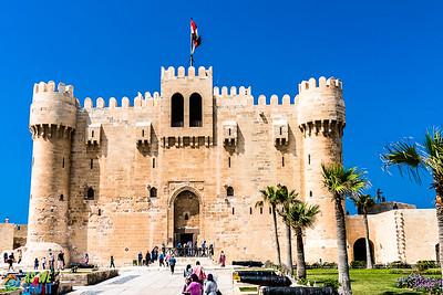 Qaitbay Citadel in Alexanderia, Egypt