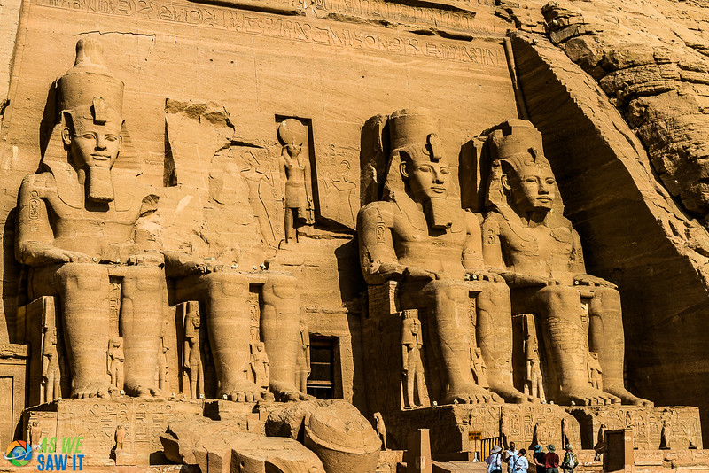 Massive statues in Abu Simbel Temple