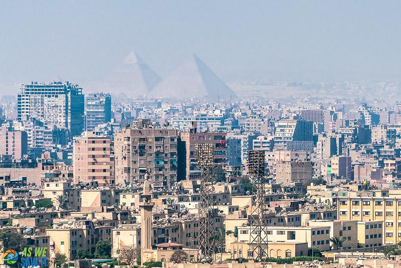 Giza Pyramids beyond Cairo, Egypt