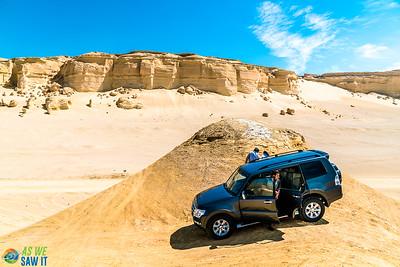 4x4 Climbing sand dunes in El Fayoum.