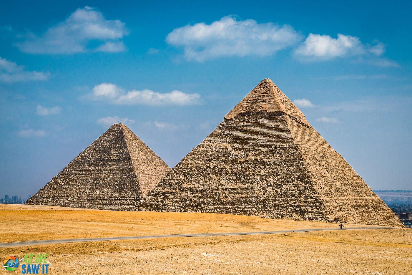 Empty Giza Plateau with the Pyramids