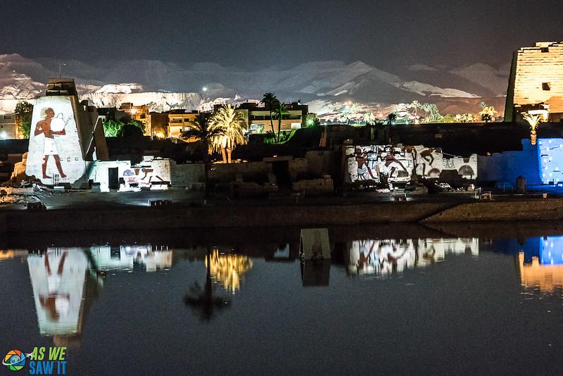 Karnak night light show