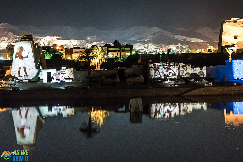 Night light show at Karnak Temple