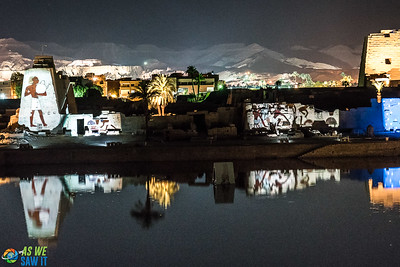 Karnak night light show