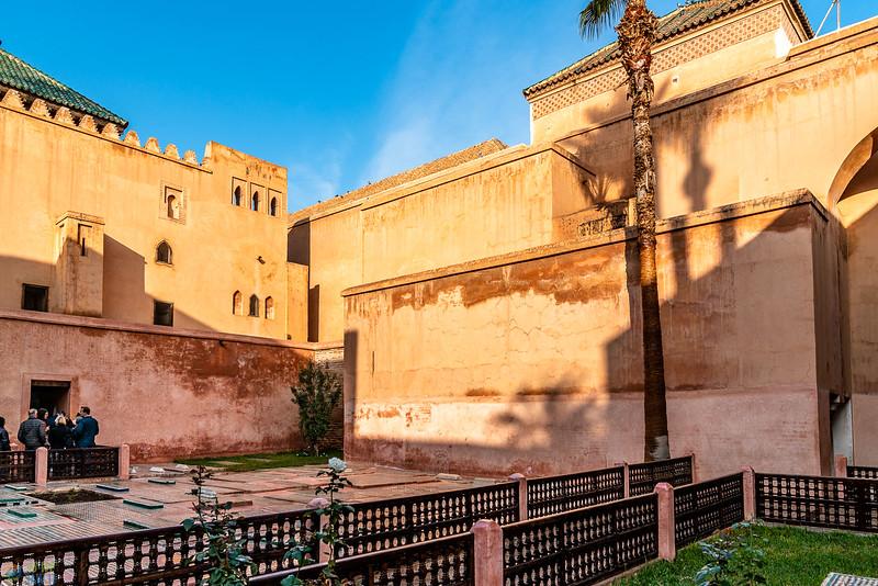 Powerful looking Bahia Palace.