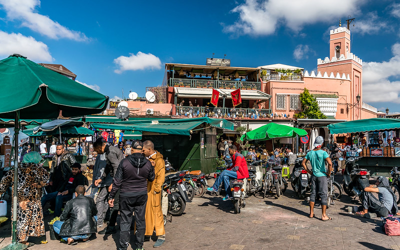 The exciting dealers of Jemaa al-Fnaa square