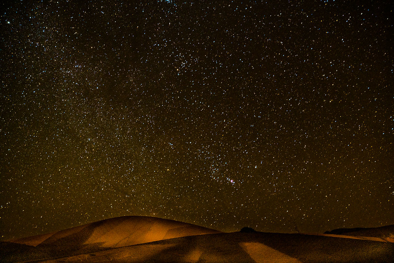 Star gazing in the Sahara brings more stars out that the grains of sand on a seashore.