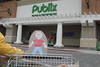 We went to the Publix Super Market  and Stanley helped push the cart.