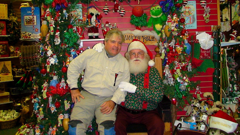 "Rob and Santa at North Pole Alaska.  , <a href=""http://www.motoquesttours.com/guided-motorcycle-tour.php?alaska-northern-expedition-adventure-29"">http://www.motoquesttours.com/guided-motorcycle-tour.php?alaska-northern-expedition-adventure-29</a>"