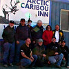 """Bob, Doug, Brian, Lee, Sharon, Dan, Jeff, Simon, Rob, Ben. Stage 1 at Prudhoe Bay  , <a href=""""http://www.motoquesttours.com/guided-motorcycle-tour.php?alaska-northern-expedition-adventure-29"""">http://www.motoquesttours.com/guided-motorcycle-tour.php?alaska-northern-expedition-adventure-29</a>"""