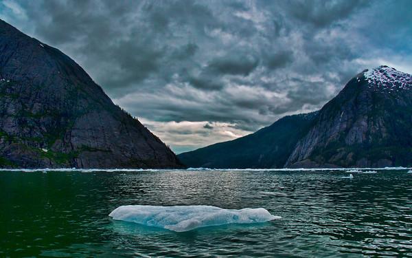 Ice flow on Stikine River near LeConte Glacier, Wrangell, AK, #0452