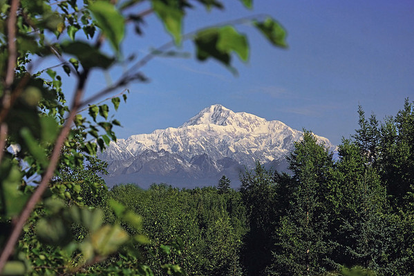 A clear day on Mt. McKinley (Denali) on southern exposure, #0425