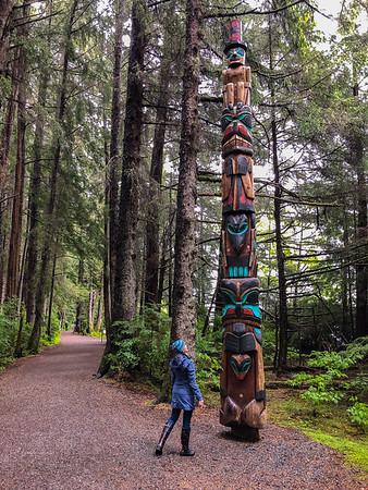 Totem Park in Sitka Alaska
