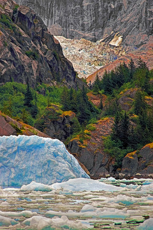 Ice flow near LeConte Bay Glacier, Wrangell, AK, #0420