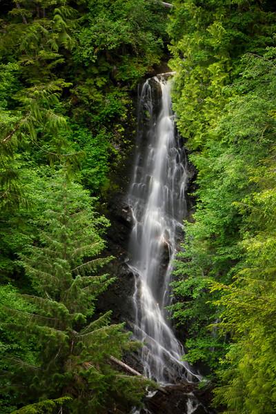 Climb over 600 steps to Rainbow falls in the rain forest surrounding Wrangell, Alaska, #0415