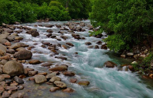 Rushing waters of glacier streams near Anchorage, Alaska, #0438
