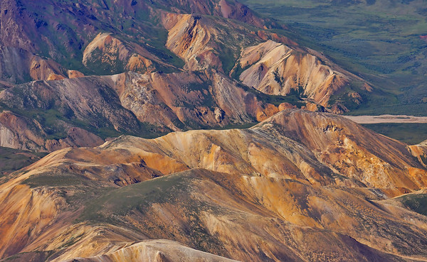 Colorful hills near Mt. McKinley and the Denali National Park, #0441
