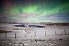 """""""Extreme Ironing - Under The Aurora"""" III, Cochrane, Alberta."""
