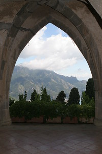 Arch with view from Ravello