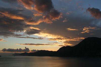 Sunset over Positano
