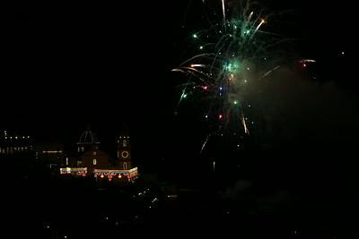 Firework display bringing to a close the sacred celebration for Saint Gennaro