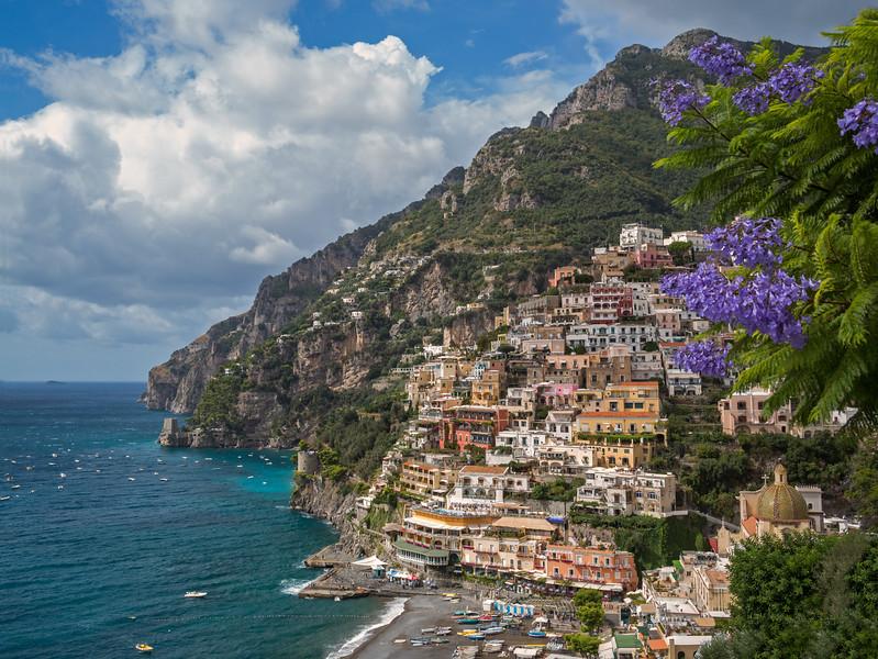 Positano on the Mediterranean