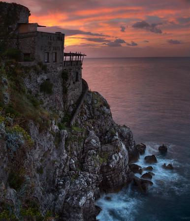 Sunrise over Amalfi