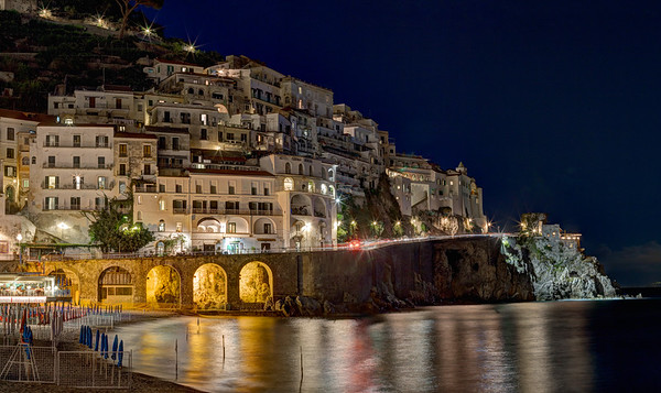 Nighttime on the Amalfi Coast