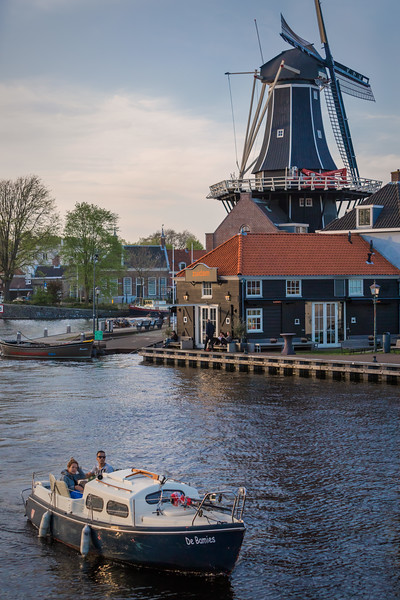 Boating on the river Spaarne