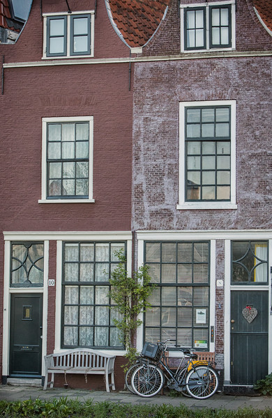 Brick homes on the River Spaarne