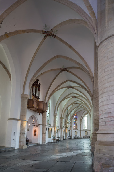 Stone tombs inside Grote of Saint Bavokerk