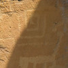 1:13pm MDT, approximately solar noon at this location.  Shadow touches three corners of petroglyph.