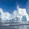 Iceberg and sky