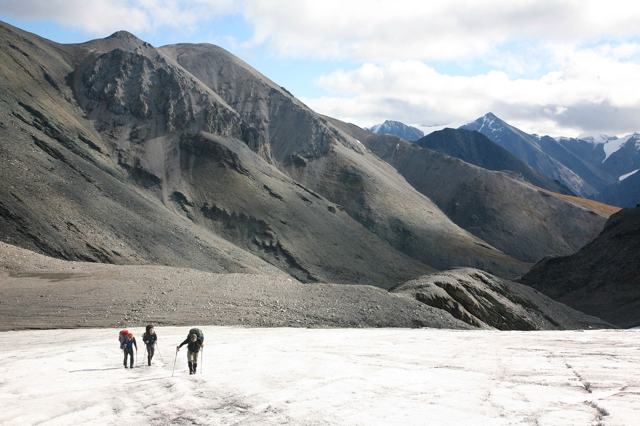 On an unnamed glacier at the Jago-Hulahula divided - Arctic National Wildlife Refuge