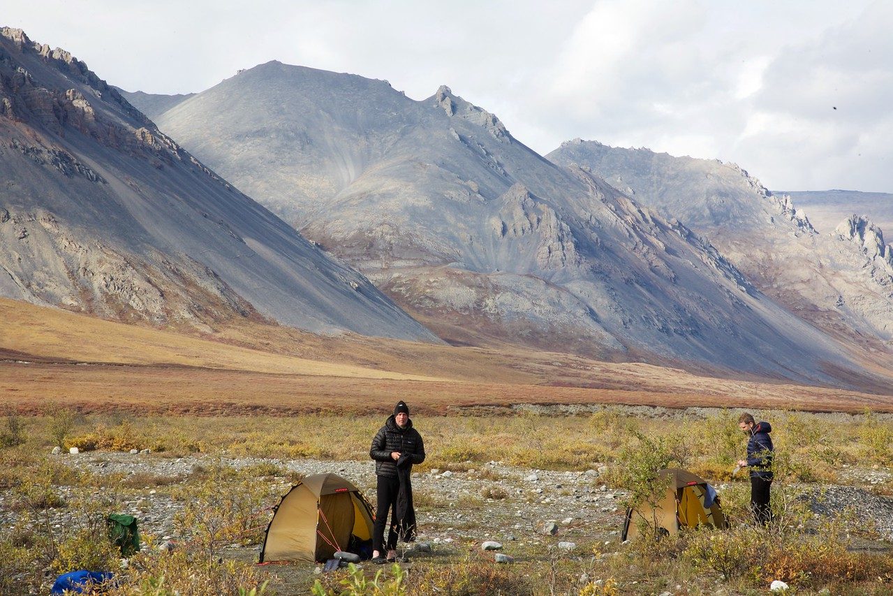 Our final camp on the Hulahula River - Arctic National Wildlife Refuge