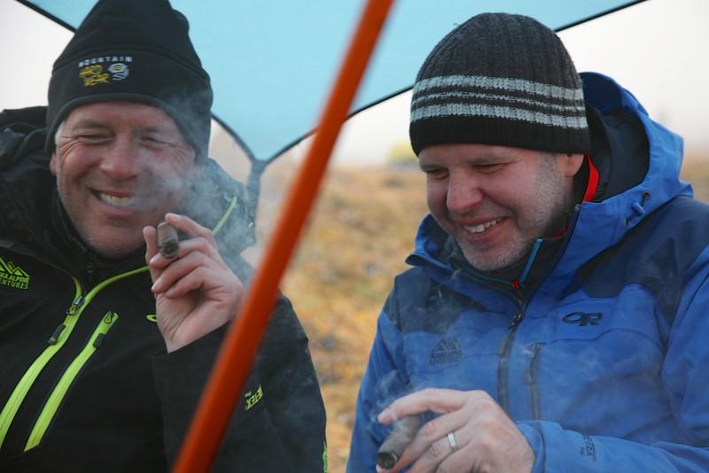 A typical evening celebration - Arctic National Wildlife Refuge