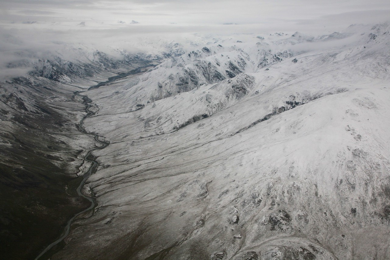 The upper reaches of the Hulahula River - Arctic National Wildlife Refuge