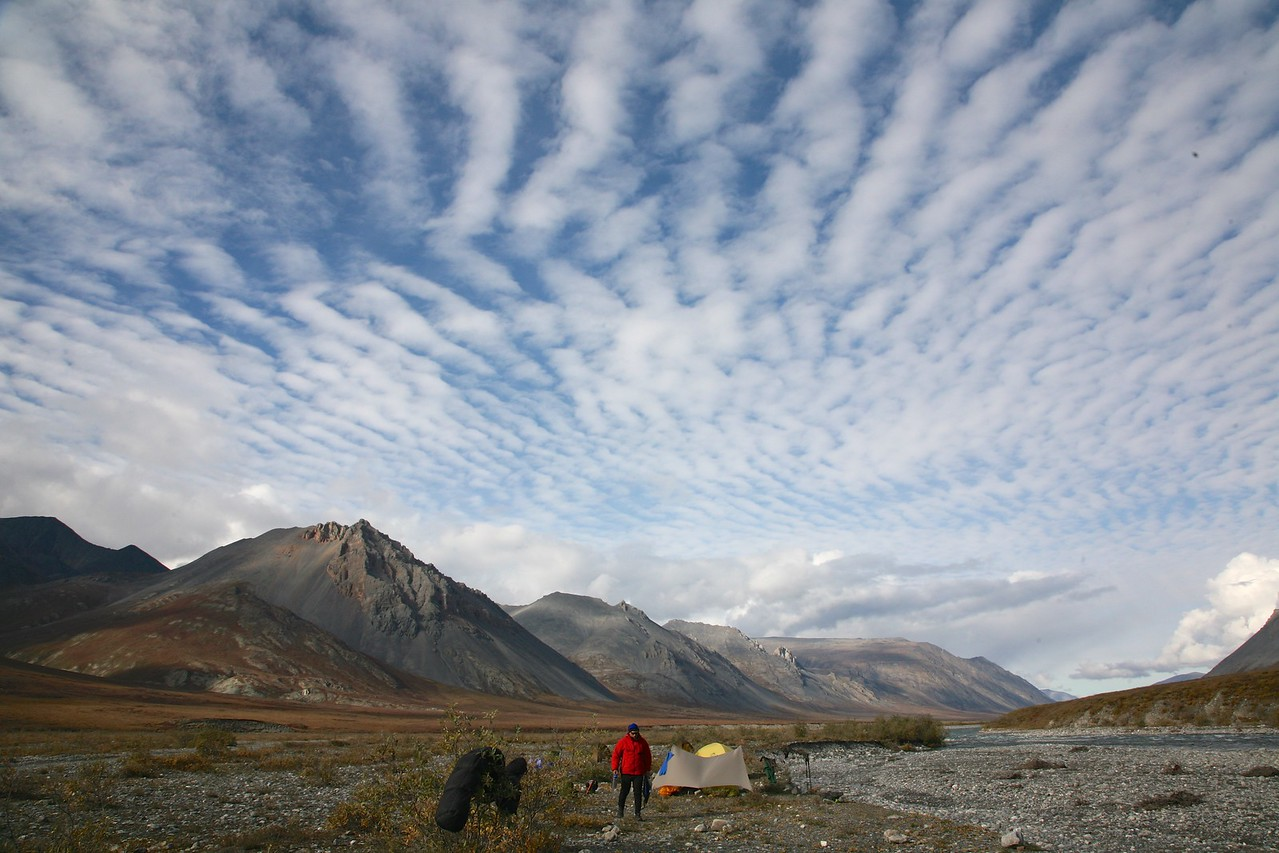 Camp on the Hulahula River - Arctic National Wildlife Refuge
