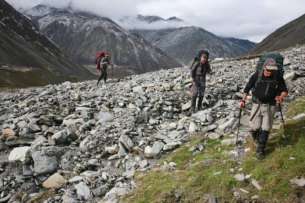 Heading up the upper east fork of the Jago - Arctic National Wildlife Refuge