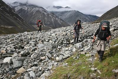 Heading up the upper east fork of the Jago - Arctic National Wildlife Refuge