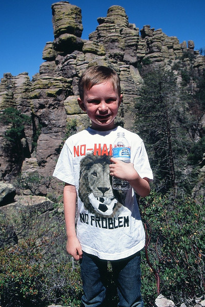 Kyle in front of some standing rocks at Chiricahua National Monument. May 2013.