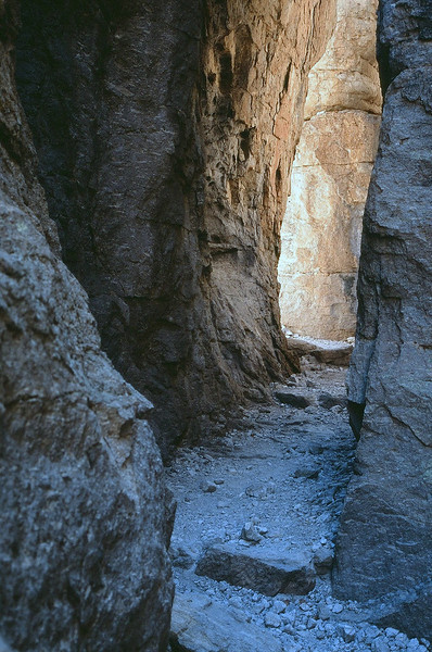 One of the trails leading between the pinnacles of Chiricahua National Monument. May 2013.